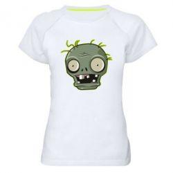 Купить Женская спортивная футболка Plants vs zombie head, FatLine
