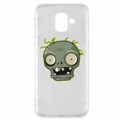 Чохол для Samsung A6 2018 Plants vs zombie head