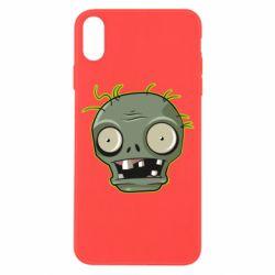 Чохол для iPhone X/Xs Plants vs zombie head