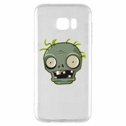 Чохол для Samsung S7 EDGE Plants vs zombie head