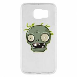 Чохол для Samsung S6 Plants vs zombie head
