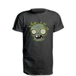 Подовжена футболка Plants vs zombie head