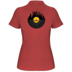 Женская футболка поло Пластинка - FatLine