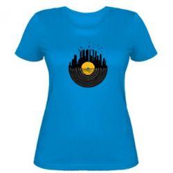 Женская футболка Пластинка - FatLine