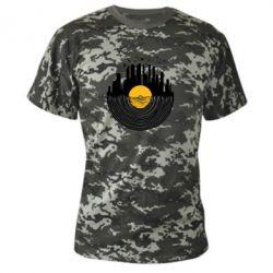 Камуфляжная футболка Пластинка - FatLine