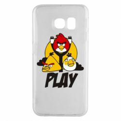 Чехол для Samsung S6 EDGE Play Angry Birds - FatLine