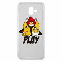Чехол для Samsung J6 Plus 2018 Play Angry Birds - FatLine