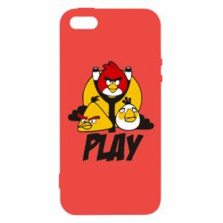 Чехол для iPhone5/5S/SE Play Angry Birds - FatLine