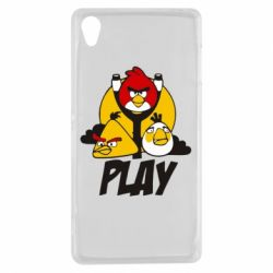 Чехол для Sony Xperia Z3 Play Angry Birds - FatLine