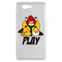 Чехол для Sony Xperia Z3 mini Play Angry Birds - FatLine