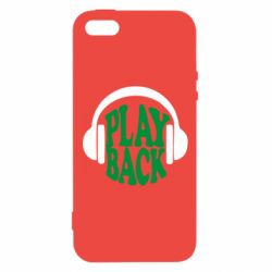 Чехол для iPhone5/5S/SE Play Back - FatLine
