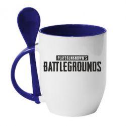 Купить Кружка с керамической ложкой Players unknown battle grand, FatLine