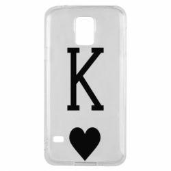 Чохол для Samsung S5 Playing Cards King
