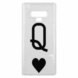Чехол для Samsung Note 9 Playing Cards Queen