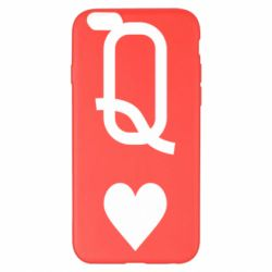 Чехол для iPhone 6 Plus/6S Plus Playing Cards Queen