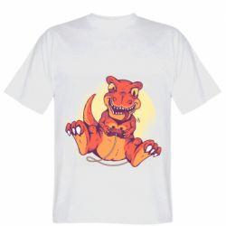 Мужская футболка Playing dinosaur