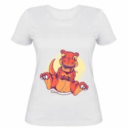 Женская футболка Playing dinosaur