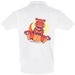 Мужская футболка поло Playing dinosaur