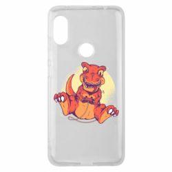 Чехол для Xiaomi Redmi Note 6 Pro Playing dinosaur