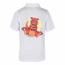 Детская футболка поло Playing dinosaur
