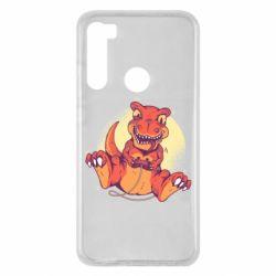 Чехол для Xiaomi Redmi Note 8 Playing dinosaur