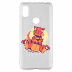 Чехол для Xiaomi Redmi S2 Playing dinosaur