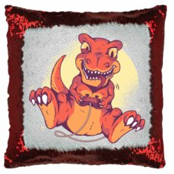Подушка-хамелеон Playing dinosaur