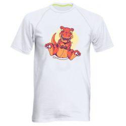 Мужская спортивная футболка Playing dinosaur