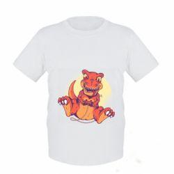 Детская футболка Playing dinosaur
