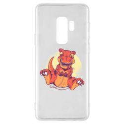 Чехол для Samsung S9+ Playing dinosaur