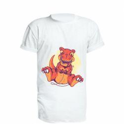 Удлиненная футболка Playing dinosaur