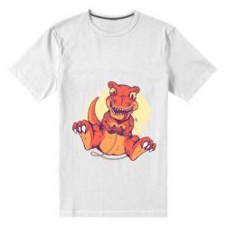 Мужская стрейчевая футболка Playing dinosaur