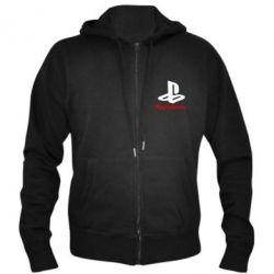 Мужская толстовка на молнии PlayStation - FatLine