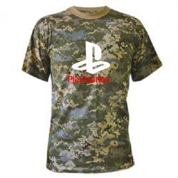 Камуфляжная футболка PlayStation - FatLine