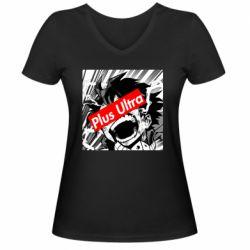 Жіноча футболка з V-подібним вирізом Plus ultra My hero academia