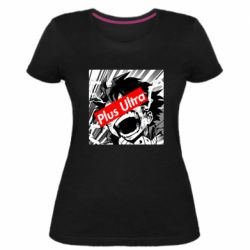 Жіноча стрейчева футболка Plus ultra My hero academia