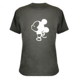 Камуфляжная футболка Поцелуй мышек (м) - FatLine