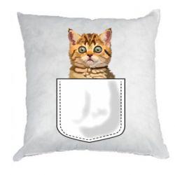Подушка Cat in your pocket