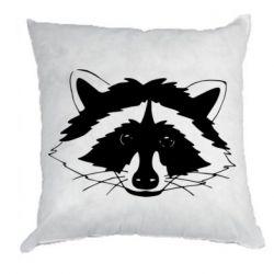 Подушка Cute raccoon face