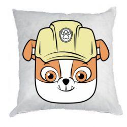 Подушка Dog in helmet