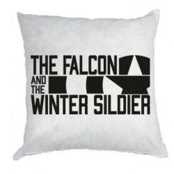 Подушка Falcon and winter soldier logo