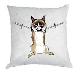 Подушка Grumpy Cat On The Rope