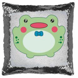 Подушка-хамелеон Baby frog