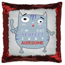 Подушка-хамелеон Cute cat and text