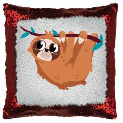 Подушка-хамелеон Cute sloth