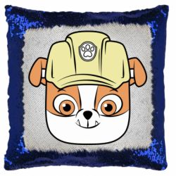 Подушка-хамелеон Dog in helmet
