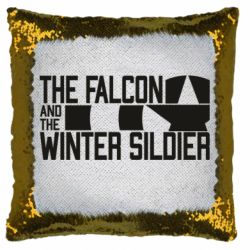Подушка-хамелеон Falcon and winter soldier logo
