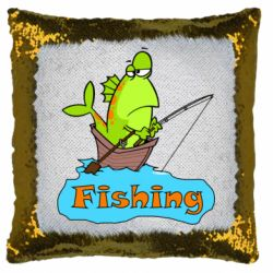 Подушка-хамелеон Fish Fishing