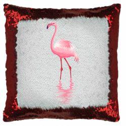 Подушка-хамелеон Фламинго