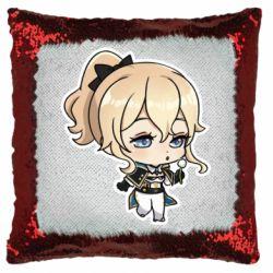 Подушка-хамелеон Genshin Impact chibi Jean